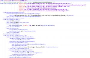MGS XRechnung XML-Struktur